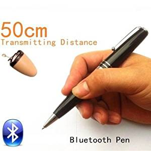 New Micro Small Invisible Spy Earpiece Secret Bluetooth Wireless Pen Covert Bug