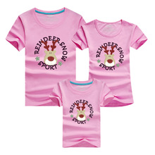 Lovely Pig Bear Family Matching Outfits T shirt 9 Colors Clothes For matching family clothes mother