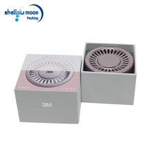 China supplier custom logo cardboard cosmetic perfume packaging boxes white paper square lid 3m holiday gift box offer