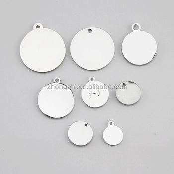 2015 Engrave Round Metal Logo Labelstamp Tags Jewelry Accessories