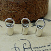 Skin tube buckle Rope connector clip Necklace Buckle 2014 fashion 925 sterling silver DIY jewelry SEF014