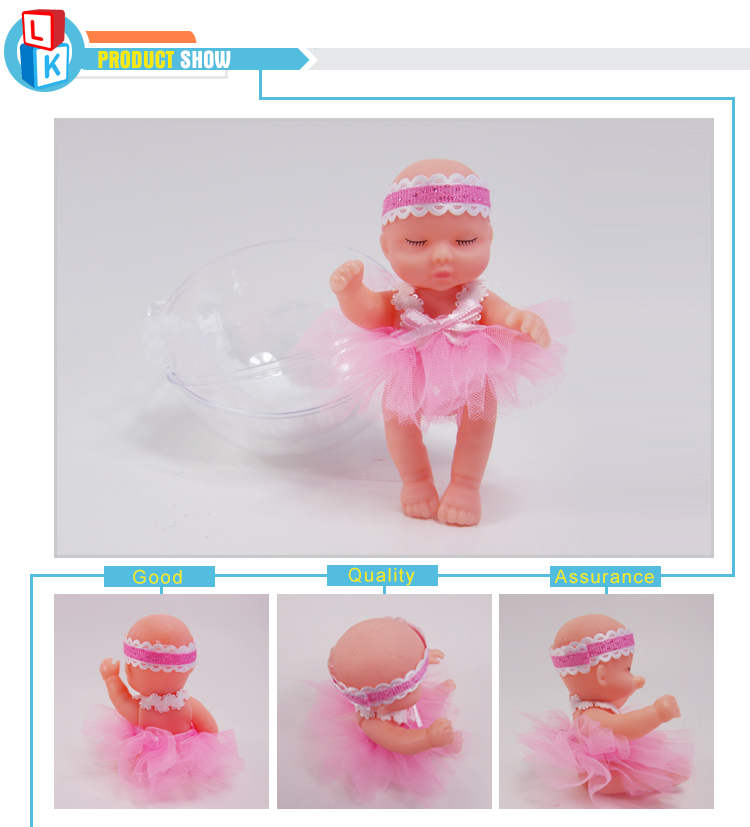 gift craft surprise mini small sleep baby newborn doll with ball