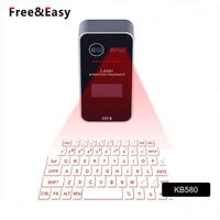 Mini Portable Laser Projection Virtual Multimedia Wireless Keyboard With Bluetooth