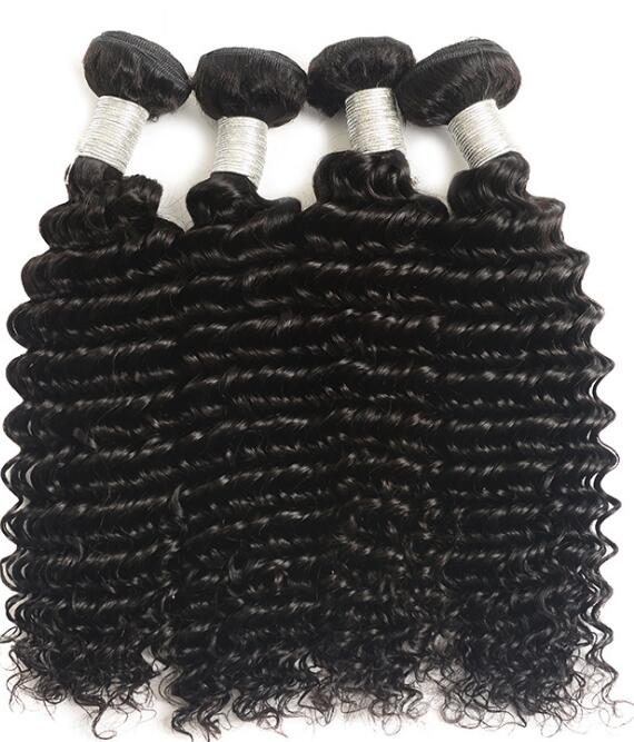 "8"" ~30"" Hot sale cheap Deep wave Brazilian/Peruvian/Indian Human hair bundles/weft,7A 8A 9A 10A"