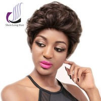 Fashion style various color 100 human hair wigs for african americans, aliexpress human hair wigs short curly