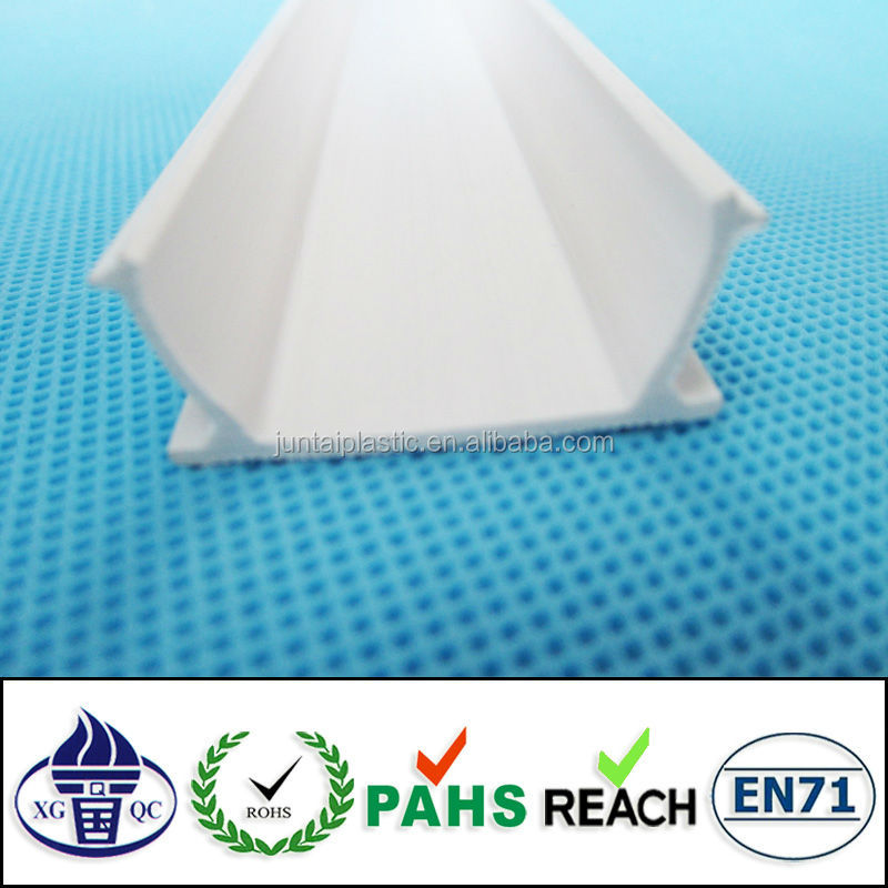 good quality extrusion PVC U shape plastic profile