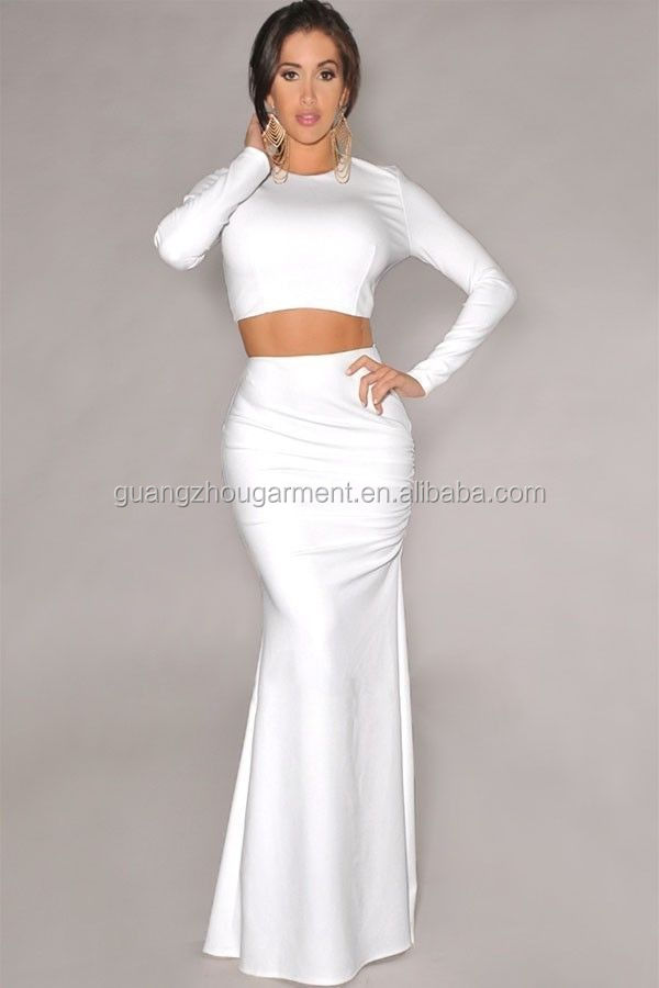 Long White Pencil Skirt - Skirts