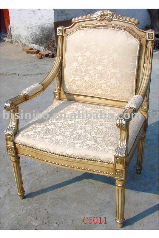 French Style Hand Carving Wooden Arm ChairsLiving Room Chairs