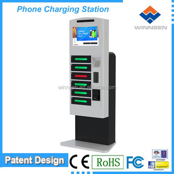 Coin Operated Phone Charging Station Cell Box Multiple