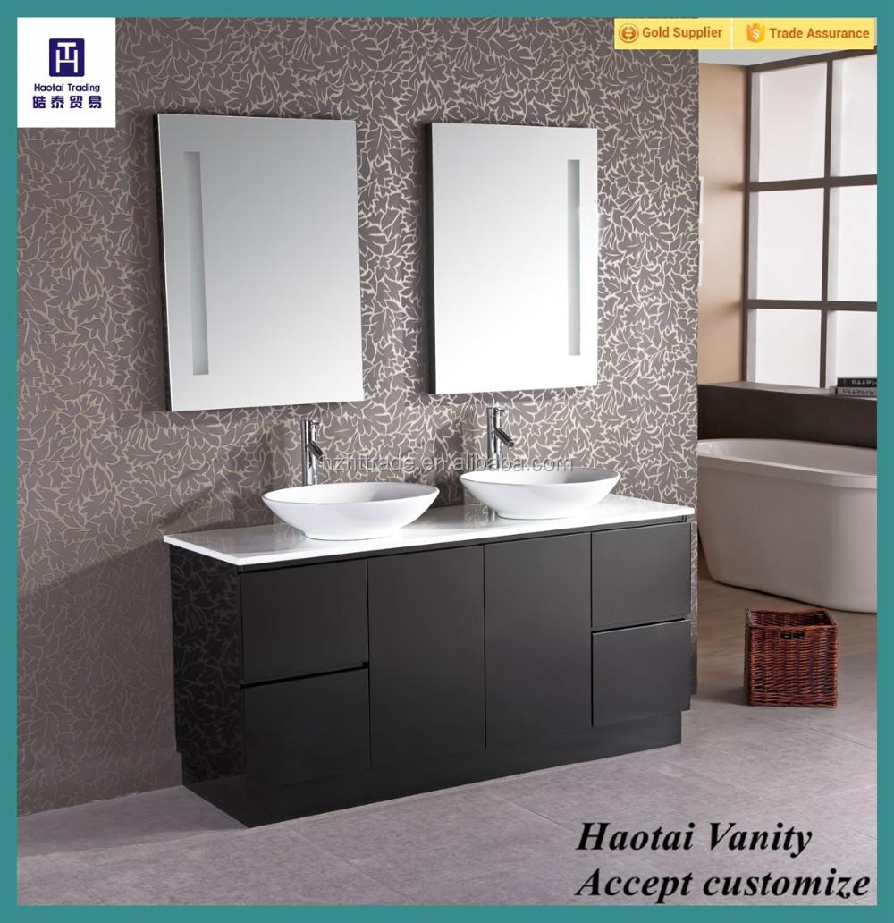 Modern Led Mirror Floor Stand Black Double Vanity Furniture For Bathrooms Fair Bathroom Bedroom