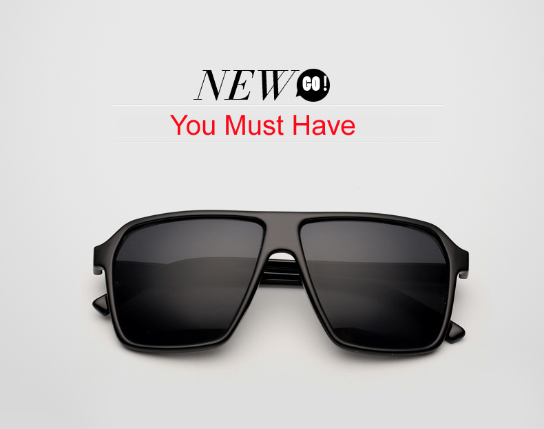 Brand New 2015 Big Oversized Steampunk Square Sunglasses Men SKULL Logo All Black Sun Glasses Women Retro gafas de sol CC0442