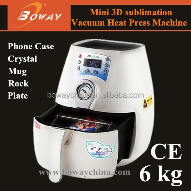 Boway CE small 3d cellphone phone case sublimation printing machine