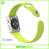 21 colors silicone sports strap for iwatch apple watch band