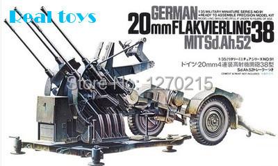 Tamiya 1 35 scale 35091 German 20mm Flakvierling 38 MitSd Ah 52 Plastic Model Kit Free