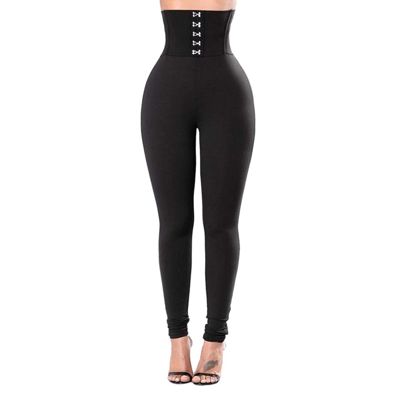 65b7718f0bf Get Quotations · CieKen Women Pant Women s Yoga Pants Sports Gym Power Flex  Tummy Control Capris Gym Workout Running