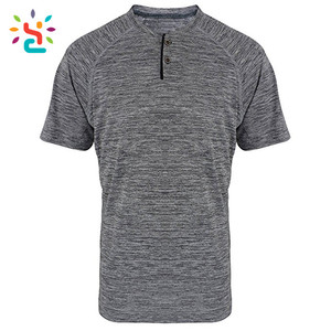 UPF 50+ Short Sleeve Performance Custom T Shirt Men Casual Athletic Sports Dry Fit Fabric Men T Shirt