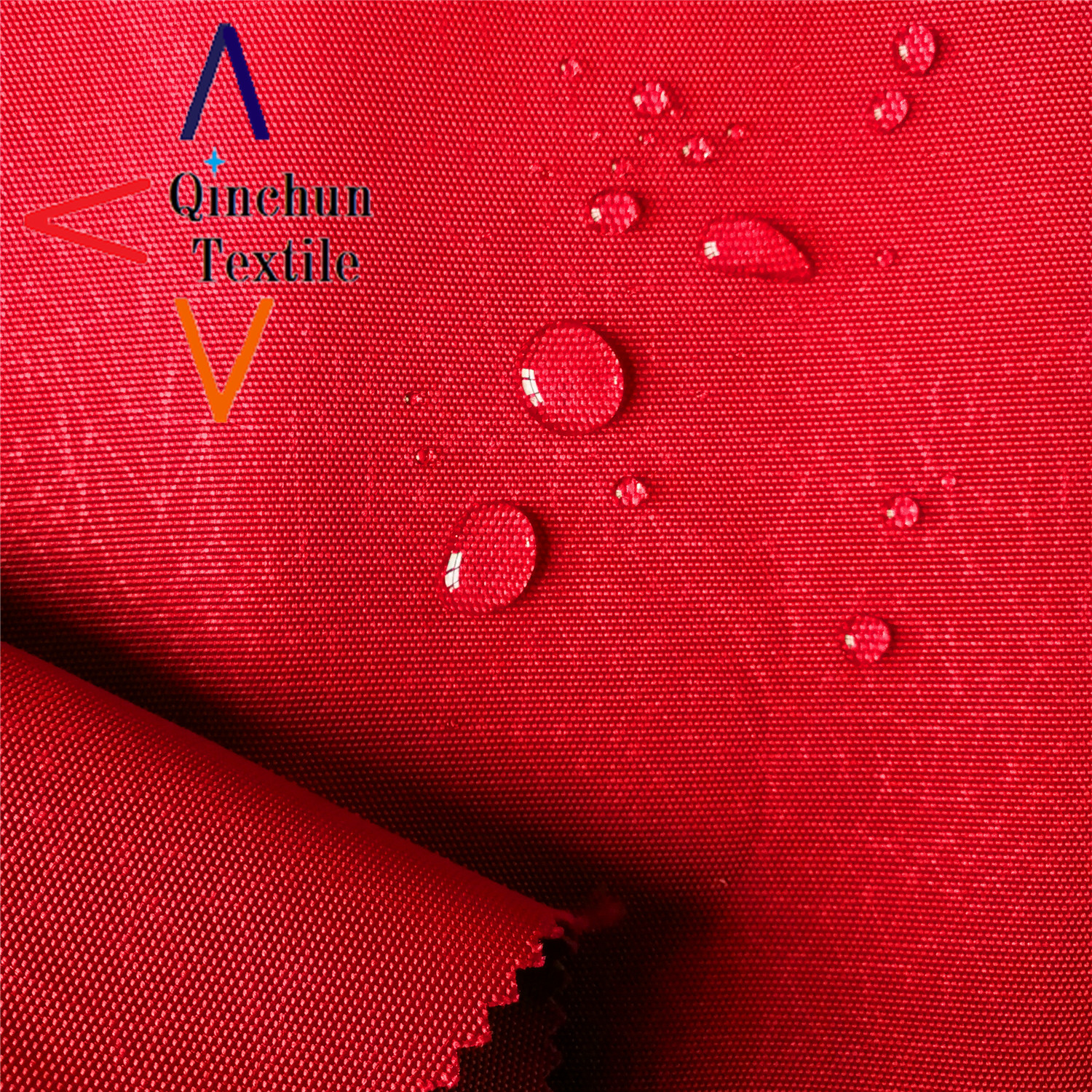 PU backing polyester fabric 600D emboss oxford for backpack