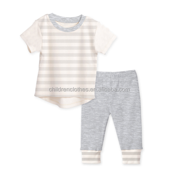 d96b232405a Wholesale Baby Clothes Clothing Boutique 100% Cotton Eco-friendly Sets  Cross Striation Gray Fashion Outfits - Buy Cross Striation Gray Fashion ...