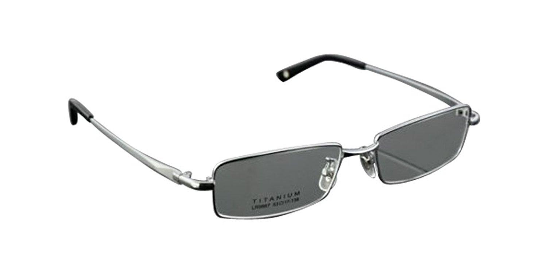 f43292ebdba4 Get Quotations · Silver 100% Pure Titanium Spectacles Men s Full Rim  Optical Eyeglass Frame eyewear Rx