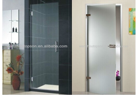 Frameless Glass Entry Doorhinge Pivot Door Buy Glass Bathroom