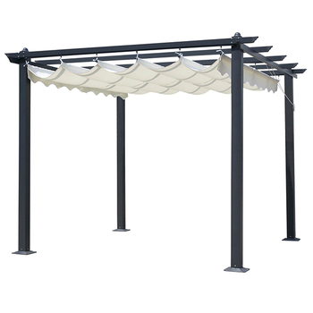 huge selection of 151f6 23f19 Outdoor Aluminum Pergola Gazebo With Retractable Sunshade Canopy - Buy  Aluminum Pergola,Pergola With Retractable Sunshade,Outdoor Pergola With  Canopy ...