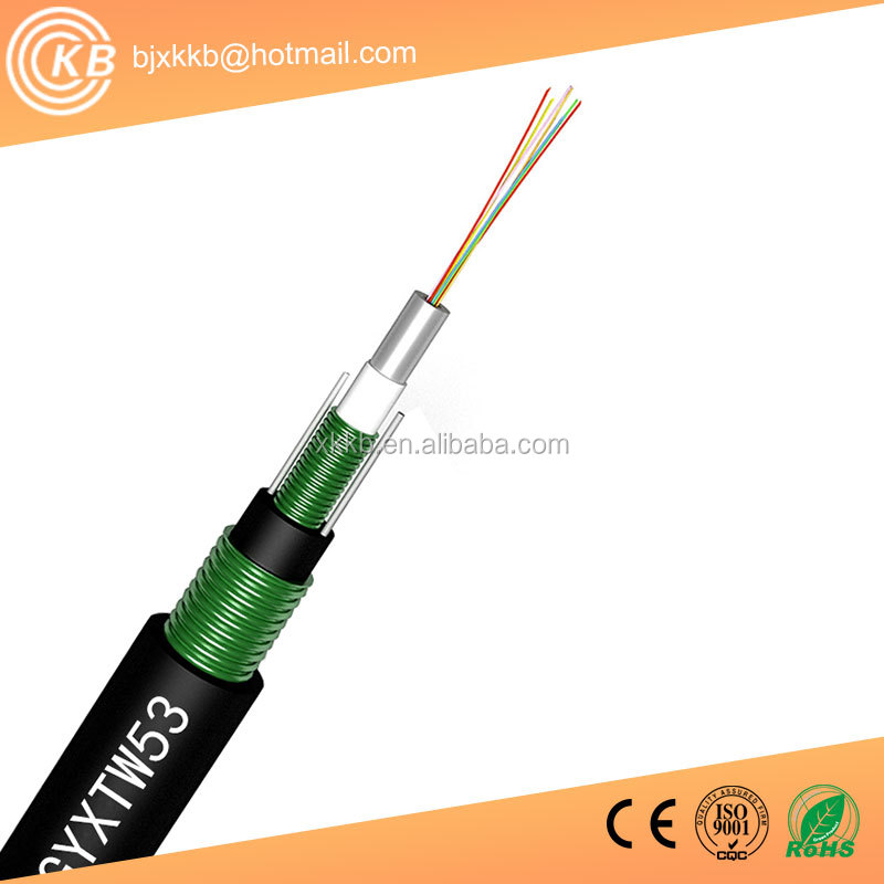 Beijing factory GYXTW53 Fiber Optical Cable,12 cores fiber optic cable