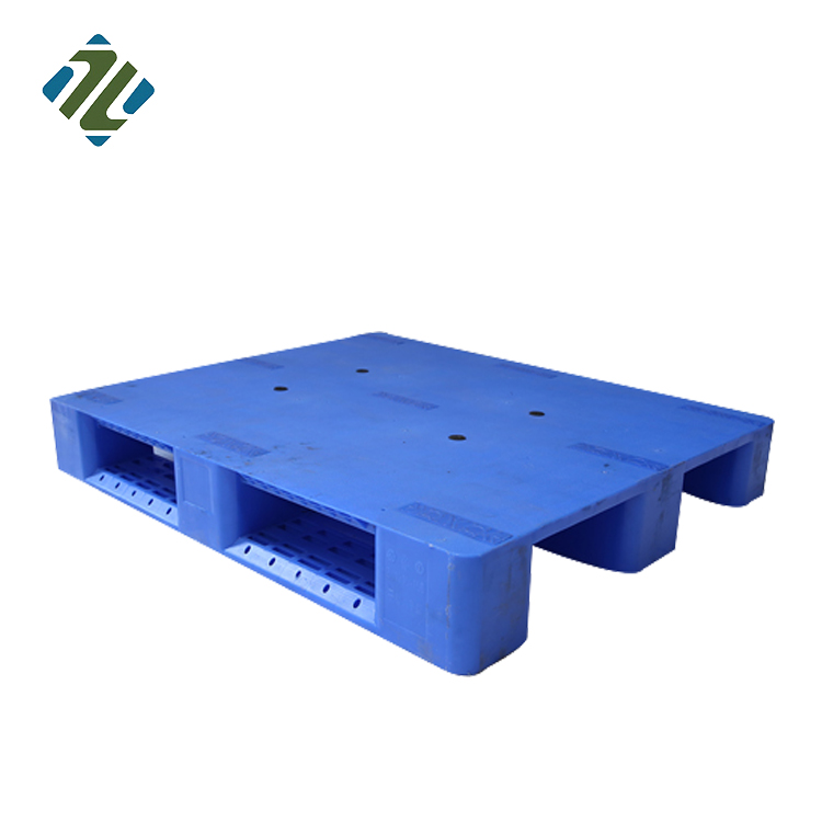 Produttore HDPE 3 Pattini Solido Top Forkslift Singolo Fronte di Heavy Duty Scaffalature Impilabile Rack Pallet In Plastica
