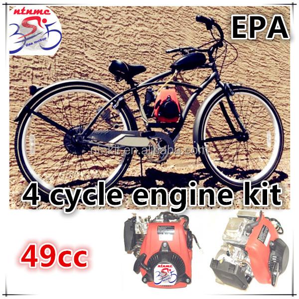 49cc 4 Stroke Motorized Bicycle Engine Kit / 4 Cycle Bike Engine ...