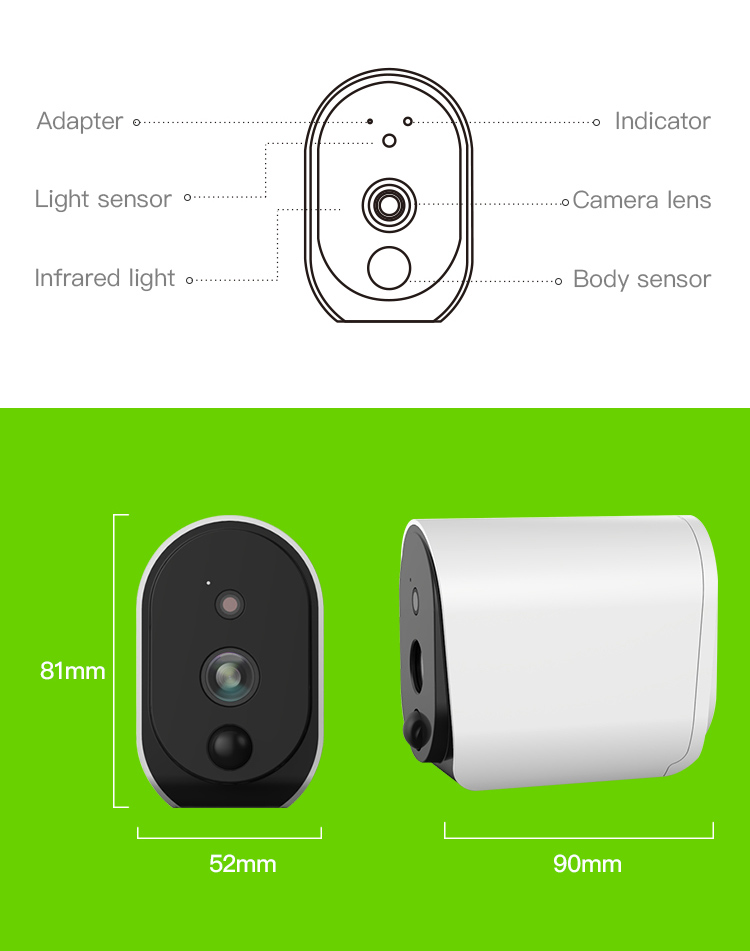 Meisort L3 Long Standby Outdoor Battery Powered Wireless Wifi Camera Standby 1 Year
