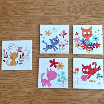 cartoon kids room decoration canvas print stretched canvas printing