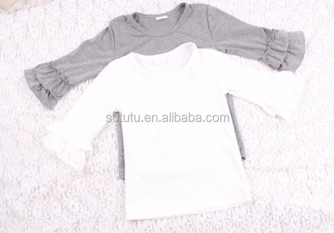 497b45703b91 1 piece only lovely korea girl shirt style for girls children blank short sleeve  tshirt with