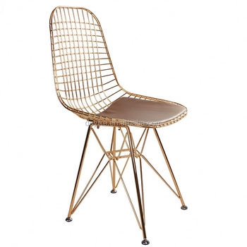 Charmant Mid Century Modern Classic Modern Nordic Unique Metal Steel Wire Chair