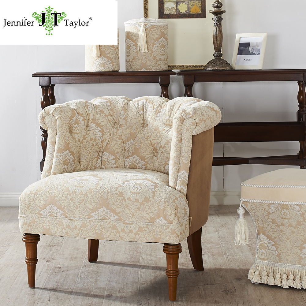 Colorful antique english style home furniture baroque armchairs
