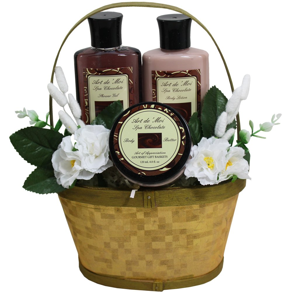 Get Quotations · Art of Appreciation Gift Baskets Dipped in Chocolate, Truffle Spa Bath and Body Gift Basket