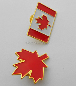 Canada flag pin badge canada maple unique promotional gift items metal lapel pin