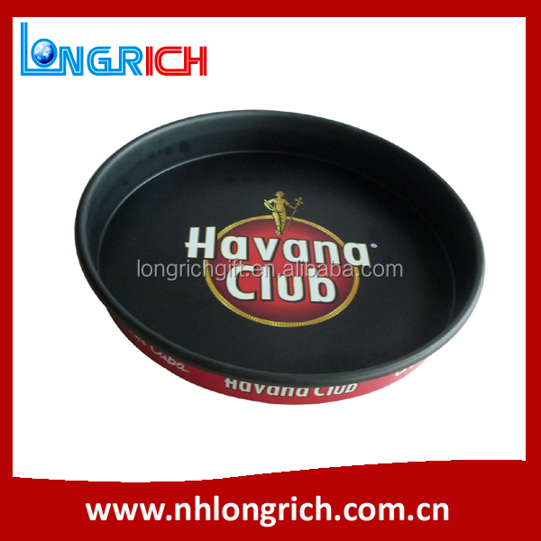 Anti-skid cheap decorative serving metal tray / bar serving tray / tin tray for beer