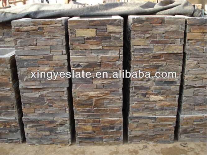 rouill e ardoise naturelle pierre placage pilier pilier id de produit 709099960. Black Bedroom Furniture Sets. Home Design Ideas