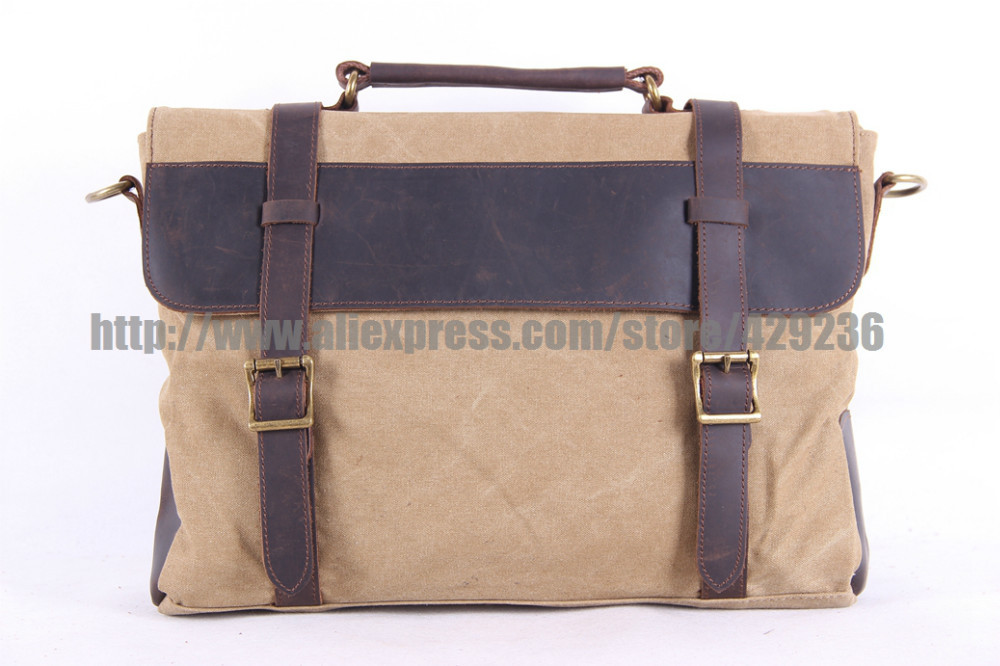 Canvas Bag Casual Crossbody Laptop School Bag Single Handle Leather Shoulder Canvas Handbag Men's Handbag1870