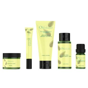 New Aromatherapy tea tree oil skin care set anti acne anti fungal cream