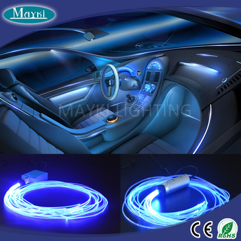 Car Interior Led Lights With Rgb Color Changing And Fiber Optic Side Emitting Cable