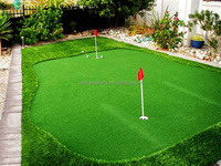 Artificial grass lawn for golf putting green
