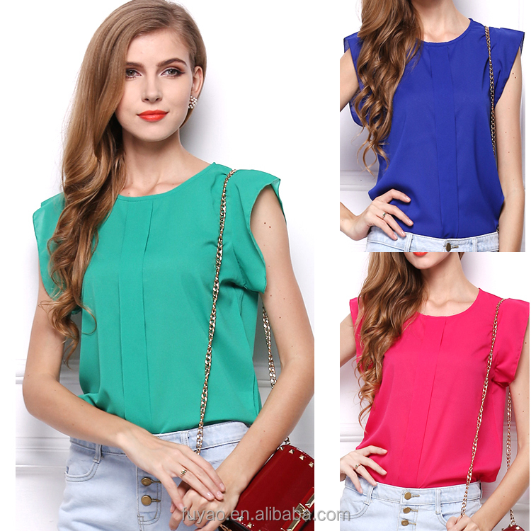 2017 Blouse Women Summer NEW Fashion Ruffles Tops Chiffon Blouses Tops ladies office Blouse Shirt Wear for Woman