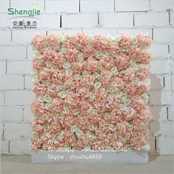 sast 70015 pink and white flower wedding decor wall hydrangea fake