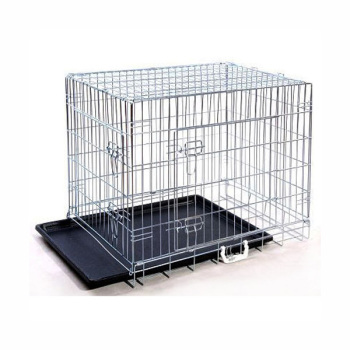 "24"" 30"" 36"" 42"" 48"" Large Outdoor Metal Dog Cages, Foldable Dog Crates"