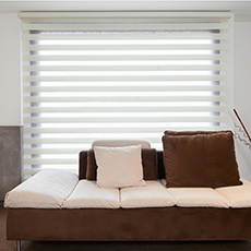 Double layer fabric blackout zebra blind manual polyester window blind