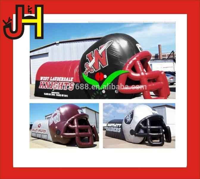 Inflatable Sports Tunnel, Inflatable Helmet, Custom Inflatable Mascot Tunnel