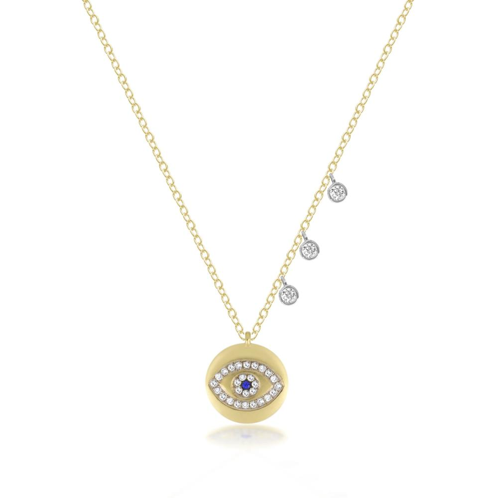 Fashion Lucky Charm Necklace Gold Plated Round Plate Disco Pendant Eye  Dangle Charms 2018 New Arrived Fashion Jewelry - Buy Lucky Charm Necklace 2e41ead587b
