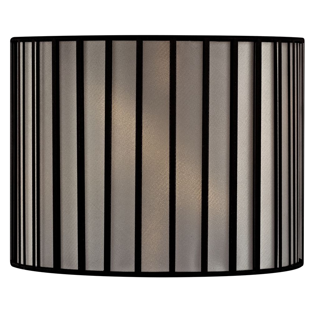 Custom Spider Bamboo Off-White And Black Drum Lamp Shade Wire For Table Lamp