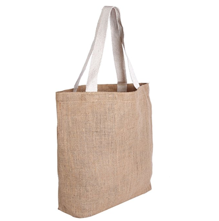 Jute Shopping Bags Natural and Reusable Grocery <strong>Totes</strong> from Earth bags