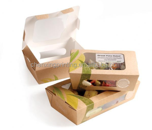 Fried Fast Food Paper Packing Box Chicken & Chips Box Take